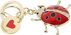 Idea Regalo - Love Moschino Portachiavi Metallo Oro - ad anello e catena Donna, (Gold Metal), 1x1x1 cm (B x H T)