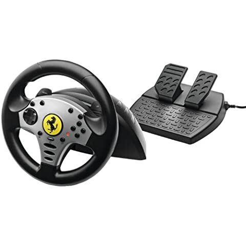 Thrustmaster Ferrari Challenge Racing Wheel (PC/PS3) - Volante/mando (Ruedas + Pedales, PC, Playstation 3, Digital, Alámbrico, Gameport, Negro, Plata)
