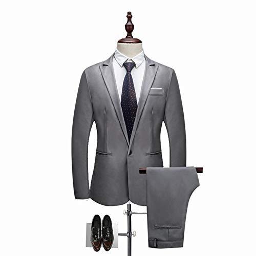 Meaningg Herrenanzüge Mit Hosen Herrenbekleidung Set Herren Slim Suit 2019 kostüm Homme Twedding anzüge für männer (Jacke + Hose) (Les Kostüme Des Hommes 2019)