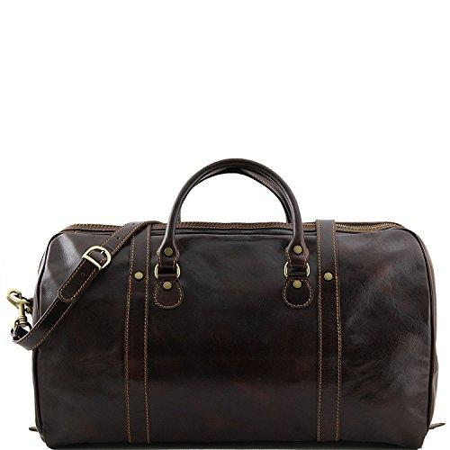 Tuscany Leather - Berlino - Borsa da viaggio in pelle con fibbie - Misura grande Testa di Moro - TL1013/5 Marrone