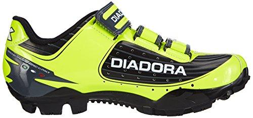 Diadora - X TRIVEX PLUS, Scarpe da ciclismo da unisex adulto Giallo(Gelb (schwarz/gelb fluo/weiß 3444))