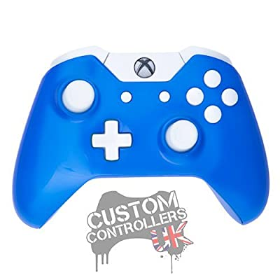 Xbox One Custom Controller - Electric Blue & White Buttons