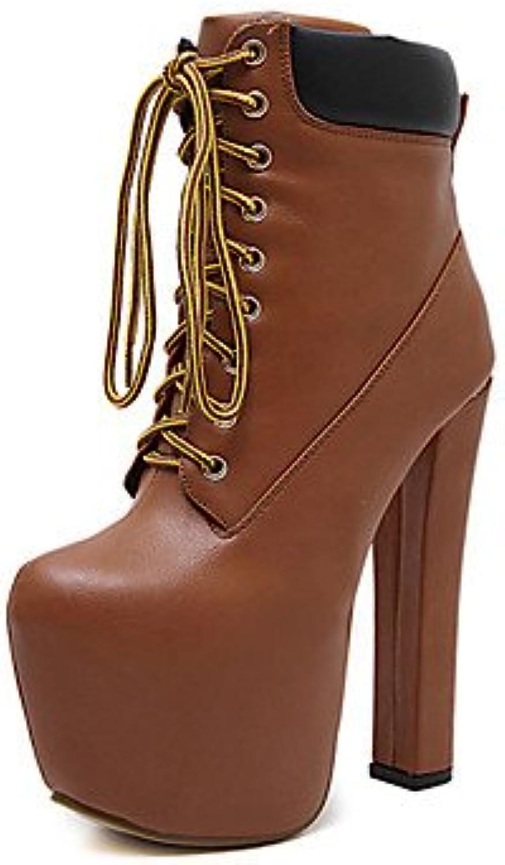 Heart&M Mujer Zapatos Semicuero Primavera Otoño Invierno Confort Innovador Pump Básico Botas Tacón Robusto Botines...