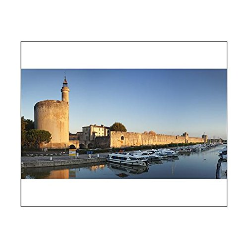 Robert Harding 20x16 Print of Tour de Constance tower and city wall at sunset, Aigues Mortes, Petit (11702984)