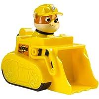 Paw Patrol - Racers - Rubble - Mini Vehículo al Rescate La Patrulla Canina - Medidas 6.4x9.5x7.6 cm