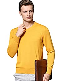 19e0144d Yuanu Men Thin Breathable Solid Color Casual Knitted Jumpers Autumn Loose  Comfortable Long Sleeve V-