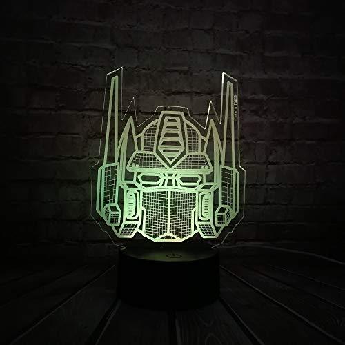 Cartoon 3D LED USB Lampe Transformatoren Maske Dekoration Letzten Ritter 7 Farben Ändern Nachtlicht Junge Auto Spielzeug Geschenk Ornament Blubing (Superhelden Transformatoren Sind)