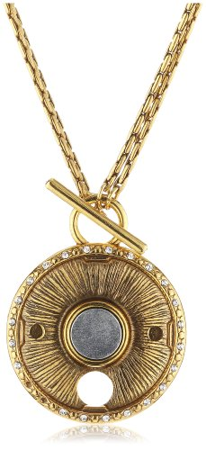 Pilgrim Jewelry Damen Halskette Messing Kristall Coin Vergoldet 45.0 cm weiß 441349002