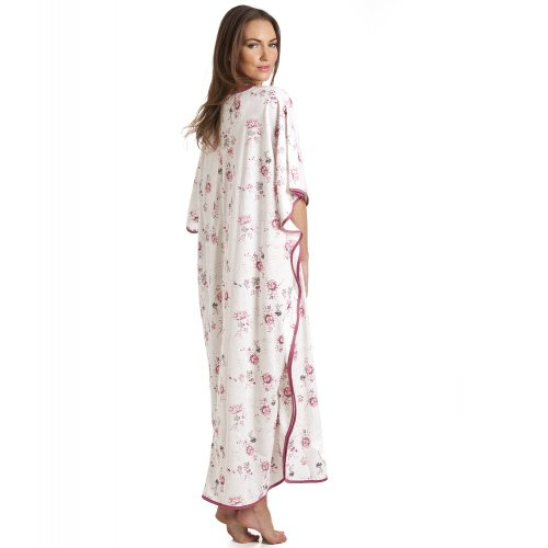 Camille - Caftan long - motif imprimé floral - femme - rose Rose