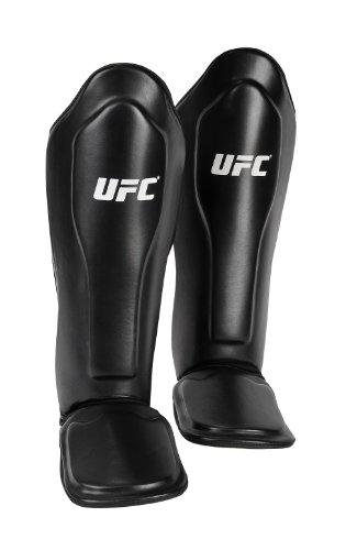 UFC Fuß-Schienbeinschützer Thai Shin und Feet Guards Schwarz, L/XL -