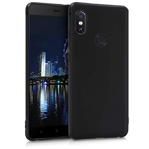 kwmobile Funda para Xiaomi Redmi Note 5 (Global Version) / Note 5 Pro - Carcasa para móvil en TPU silicona - Protector trasero en negro mate