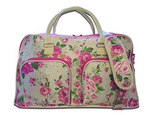 15 COLOURS Leinen Reisetasche - Wochenende übernachten Taschen - Mittlere Größe Urlaub Seesack - Ideal Damen Fitness Reisetasche - Handgepäck Handgepäck 50cm x 30 x 25, 35 Liter - QL216M