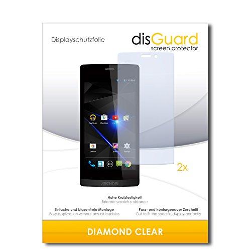 2 x disGuard® Bildschirmschutzfolie Archos 50 Diamond Schutzfolie Folie