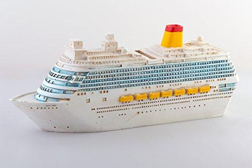 Produktbild wunderschöne große Urlaubskasse,Spardose,Sparbüchse, Boot,Kreuzfahrtschiff aus Polyresin