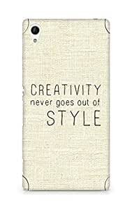AMEZ creativity never goes out of style Back Cover For Sony Xperia Z4