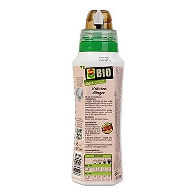COMPO BIO Kräuterdünger für alle Gewürzpflanzen und Kräuter, Natürlicher Spezial-Flüssigdünger, 500 ml von Compo - Du und dein Garten