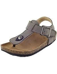 Tookang Unisex Bambini Sandali in Sughero Cinturino alla Caviglia Fibbia  della Cintura Sandali Infradito da Spiaggia 804902dd751