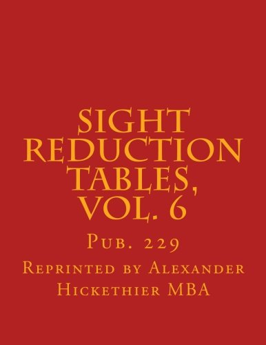 Sight Reduction Tables, Vol. 6: Pub. 229: Volume 6 (Nautical Sight Reduction Tables) por Mr. Alexander F. Hickethier MBA