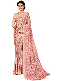 Jaanvi Fashion Women's Crepe Silk Printed Saree (studio-crepe-03_pink)