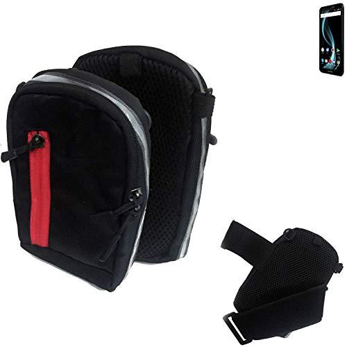 K-S-Trade Outdoor Gürteltasche Umhängetasche für Allview X4 Soul Infinity L schwarz Handytasche Case travelbag Schutzhülle Handyhülle