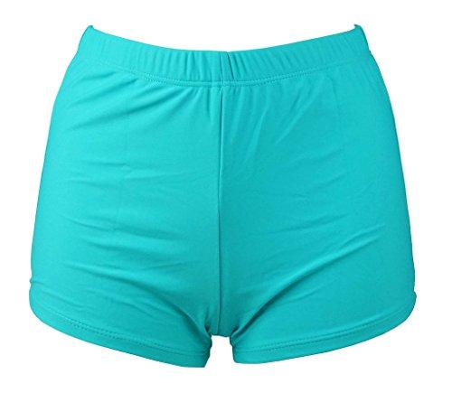 MUXILOVE Damen UV Schutz Wassersport Schwimmen Bikinihose Badeshorts Schwimmshorts Hellblau