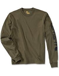 Carhartt Logo manches longues en coton à manches longues t-shirt 100% EK231