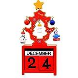 NAttnJf Creativo Adorno de Navidad de Madera Calendario Lindo Regalo Mini Fiesta...