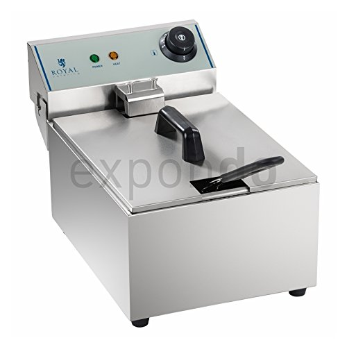 Royal Catering - RCEF-10EY-ECO - Fritteuse - 3200 Watt Leistung - 10 Liter max. Füllmenge - ECO-Modell