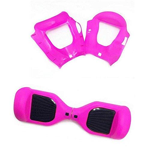 WheelElite, protezione in silicone antigraffio per un monopattino e hoverboard di 16,5 cm a due ruote ad autobilancianti, Rose Red