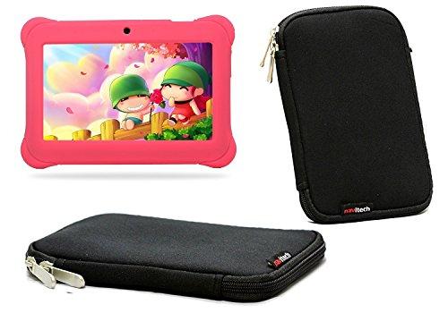 Navitech schwarz Neopren-Kasten / Abdeckung / Hülse / Beutel / Haut für das Kurio 8.9 Zoll intelligente 9 Windows scherzt Tablette (Das Kurio Phone Für Kids)