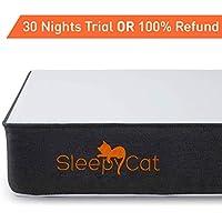 SleepyCat - Orthopedic Gel Memory Foam Mattress (78x72x6 inches)