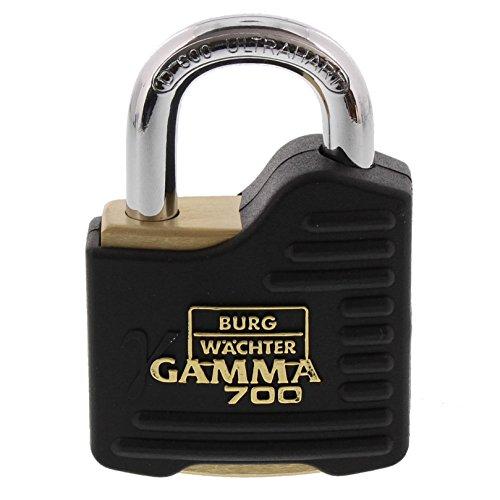 BURG-WÄCHTER Vorhängeschloss, 9 mm Bügelstärke, Ultrahart, Bohr- und Kneifschutz, 2 Schlüssel, Gamma 700 55 SB