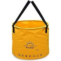 ActiveSol Cubo Plegable de 20 litros | Robusto, Plegable, pequeño. De Multiuso para Viajar, en el jardín, al Aire Libre, de Pesca y de Camping (20 litros - Alto)