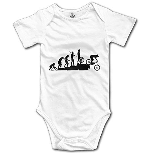 Mountain Bike Downhill Car Newborn Infant Baby Clothes T-Shirt Baby Onesie Baby Short-Sleeve Bodysuit