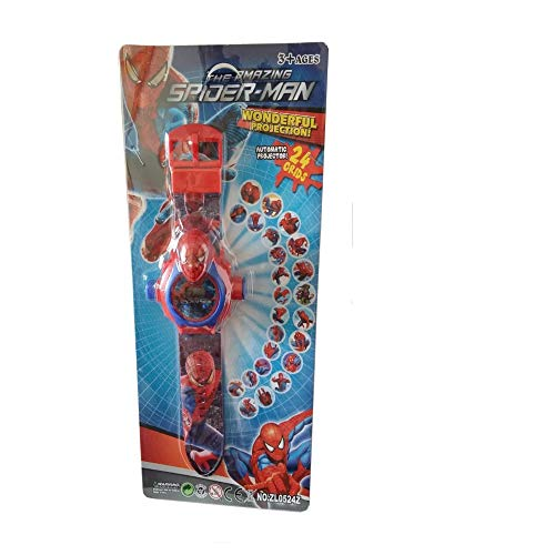 Happy GiftMart 24 Images Spiderman Projector Watch - 24 Different Projection