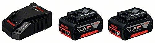 Preisvergleich Produktbild Bosch Professional Akku-Starter-Set 2 x GBA 18 V 5,0 Ah M-C plus AL 1860 CV Schnellladegerät, 1 Stück, 1600A002TD