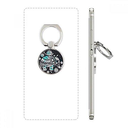 efant Blumen-Schwarz-Blau Tier Handy-Ring Ständer Halter Halterung Universal-Smartphones Unterstützung Geschenk Mehrfarbig ()