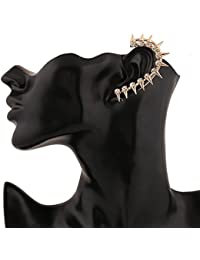 Aaishwarya Golden Spikes With Crystal Single Ear Cuff (Left) For Women & Girls
