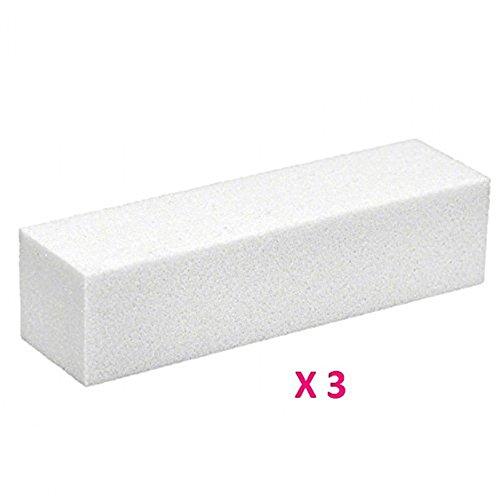 Westeng 3 Blocs Blancs Polissoirs Lime à Ongles Nail Art Manucure Pédicure Outils