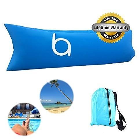 Chaise longue gonflable Portable Canapé avec stockage de transport Sac de plage, étanche Air Canapé, chaise longue gonflable, Air Canapé lit piscine, délai pour intérieur/extérieur, Voyage, camping, randonnée