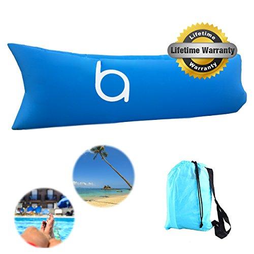 Materassino pouf gonfiabile, con borsa per riporlo e trasportarlo, impermeabile, galleggiante, per uso interno ed esterno, accessorio da campeggio, escursionismo, viaggio