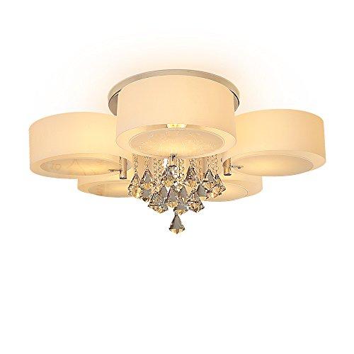 Kronleuchter Kristall Deckenleuchte 5-flammig Moderne Deckenlampe Unterputz E27