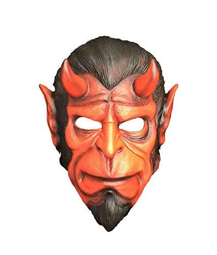 Cradifisho Collector's Edition Hell Baron Maske aus Harz, Maske der Prominente, Halloweenmaske, Karneval, Weihnachten, Ostern, Masken-Kollektion