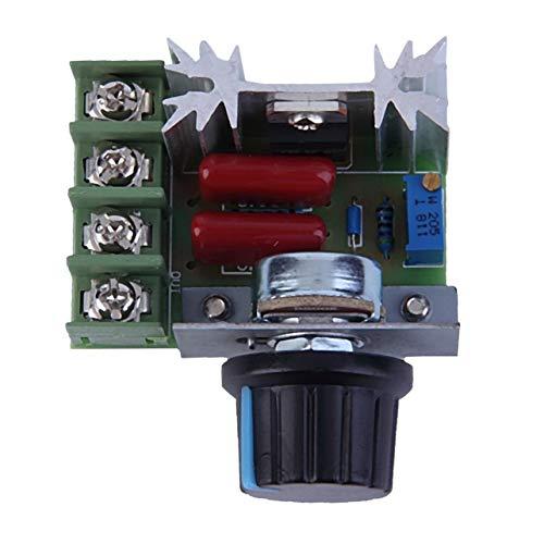 Moderne Dimmer Regler (WOSOSYEYO Gute Qualität 2000W 220V AC SCR elektronischer Spannungs-Regler Speed   Control-Controller Dimmer Thermostat-Modul)