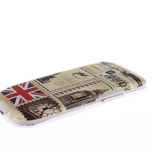 Samsung Galaxy S3 Mini hülle MCHSHOP Ultra Slim Skin Gel TPU hülle weiche Silicone Silikon Schutzhülle Case für Samsung Galaxy S3 Mini - 1 Kostenlose Stylus (Löwenzahn sich verlieben (Dandelions Fall  Briefpapier und Umschläge Stempel (Letter Paper and En
