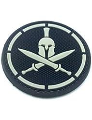 Sparta épée Noir PVC Airsoft Moral Patch