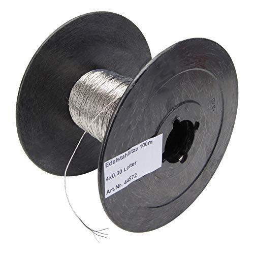 100 m Fil Acier Inoxydable Tressé Robuste Conducteur 4 x 0,3 Clôture Électrique