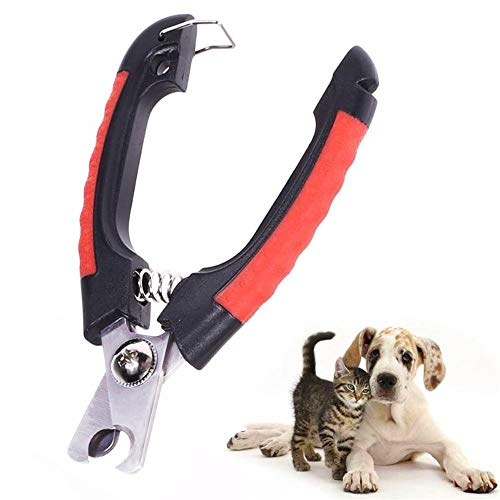 PeachBlossomSource Professional Pet Dog Nail Clipper Cutter Stainless Steel Grooming Scissors Clippers for Animals Cats with Lock Size S M,Type 1,S