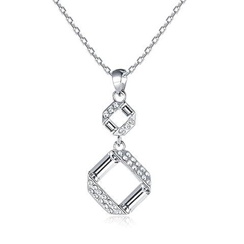 Oven Moda Nouveauté Bijoux Chaîne Cristal Swarovski Éléments Blanc Collier Pendentif Pour Femme De La Mère