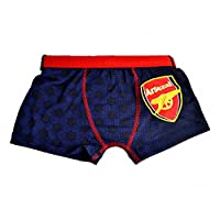 Arsenal FC Official Childrens Boys Football Boxer Shorts (7-8 Years) (Blue/Red)